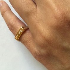 Engraved ring Personalized Ring men / women ring by Limajewelry