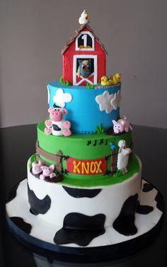 Items similar to Red Barn Farm Cake Topper Set on Etsy Farm Animal Birthday, Farm Birthday, 2nd Birthday Parties, Birthday Cake, Sheep Cake, Sugar Dough, Farm Cake, Twins 1st Birthdays, Farm Party