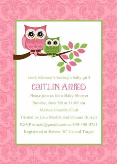 Baby Boy Shower Invitation Owl Owls Invitation By DesignedByJae, $13.00....  This Lady Is Out Of Ann Arbor And I Have Choosen These Invited For Ouu2026