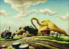 Thomas Hart Benton (April 1889 – January was an American painter and muralist. Along with Grant Wood a. American Realism, American Artists, Anton, Thomas Hart Benton Paintings, Art Thomas, Grant Wood, Portraits, Art Moderne, Landscape Art