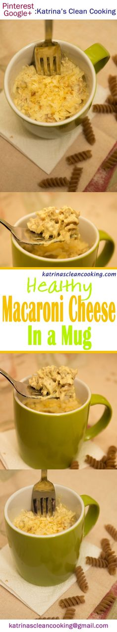 Healthy Macaroni Cheese in a Mug: Quick & easy low-calorie meal. Healthy Macaroni Cheese, Greek Yogurt Pasta, Low Calorie Recipes, Healthy Recipes, Clean Eating Recipes, Healthy Eating, Mug Recipes, Meals For One, Quick Meals