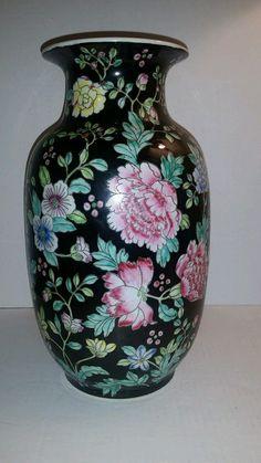 Beautiful Vintage Floral Chinese Porcelain Vase | eBay