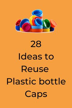 Do you have a million bottle caps lying around waiting to be used? Check out these 28 art and crafts projects. Learn how to make wall art and other creative home decor ideas made with plastic and metal caps. #diy #caps #crafts Plastic Bottle Caps, Reuse Plastic Bottles, Bottle Cap Art, Bottle Cap Crafts, Plastic Recycling, Arts And Crafts Projects, Crafty Projects, House Projects, Kids Crafts