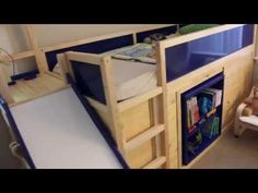 Ikea Kura bed used in loft setup with secret room and slide