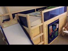 Kura transformed into Bed / Play Structure combo - IKEA Hackers ... soo ein cooles Bett aus Zwei Kuro betten und regalen. Genial