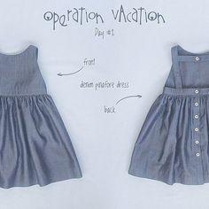Denim pinafore dress #mypetitesophie