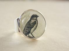 Silver Bird Ring RS 087  Pick your Design by admirable on Etsy, $15.00