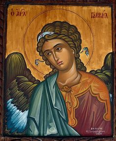 Holy Icons of Angels Archangel Gabriel, Archangel Michael, Byzantine Icons, Byzantine Art, Religious Icons, Religious Art, Greek Icons, Romanesque Art, Angel Sculpture