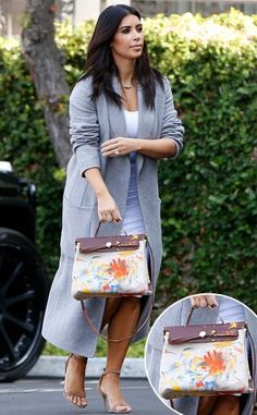 1c04365b55 Kim Kardashian Finally Steps Out With the Very Special Accessory Created by  North West—hermes bag Kim Kardashian