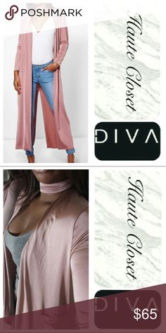 Silk Duster&Choker Set Gorge long mauve silk finish duster and choker set. A night out must have! Features two front pockets and lower center back slit (as shown in photo 1) New! Jackets & Coats