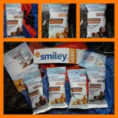 These are the goodies u received in my smiley360 mission box. I have tried both flavors and my favorite is the Pure Protein Peanut Butter Crunch. These are absolutely delicious and are a nice source of protein. #freesample #crunchtime