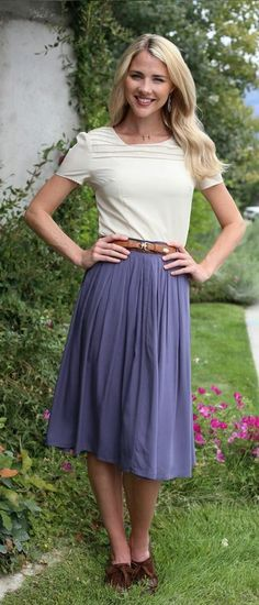New! Cotton Pleated Skirt in blue: http://www.modestpop.com/collections/skirts?page=4