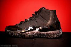 """Air Jordan XI """"Oreo & Cement"""" Customs by Ramses"""