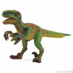 Schleich Velociraptor Dinosaur Toy Model $5.49 in stock & ships same day! Shop www.DinosaurToysSuperstore.com