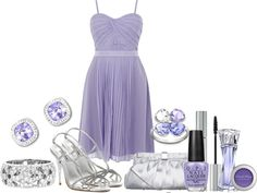 """""""purple and silver"""" by dgia on Polyvore"""