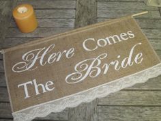 Large Here Comes The Bride Sign