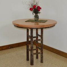 A & L Furniture Hickory Round Pub Table - 2781