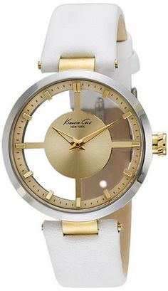 nice Women's 10022539 Transparent Analog Display Japanese Quartz White Watch - For Sale Check more at http://shipperscentral.com/wp/product/womens-10022539-transparent-analog-display-japanese-quartz-white-watch-for-sale/
