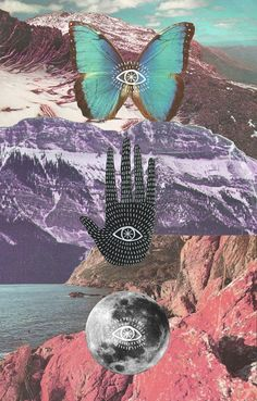Mystic Art // Digital + Graphic Design // The Beauty of Creative Expression I like this image because they use like 3 seasons and 3 symbols making the colors stand out uniquely . Psychedelic Art, Inspiration Art, Art Inspo, Art Du Collage, Grafik Design, Art Design, Trippy, Aesthetic Wallpapers, Graphic Art