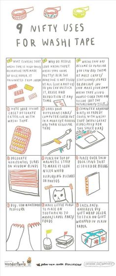For creative ways to use washi tape.