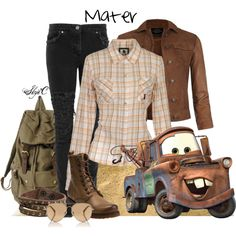 """""""Mater - Disney Pixar's Cars"""" by rubytyra on Polyvore"""