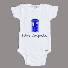 Doctor Who Future Companion Tardis Police Box Onesie Pick Your Size on Etsy, $12.00