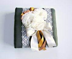 Vintage Photo Album wedding birthday silk flower and by Lovalu, $120.00