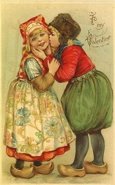 Vintage Valentine's postcard by KFSonshine, via Flickr