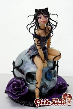 Lady Halloween - by ChokoLate @ CakesDecor.com - cake decorating website
