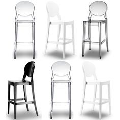 One More Stool By Kartell Louis Ghost Stool Bar And