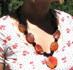 Large and in Charge Chunky Carnelian and by nevadawoodsjewelry, $50.00
