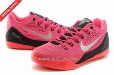"653972-121 Nike Kobe 9 Low ""Think Pink"" Nine Red / Black Outlet"