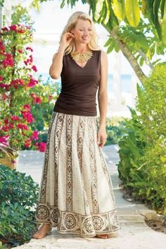 Playa Skirt - Women's Maxi Skirt, Embroidered Skirt | Soft Surroundings Outlet