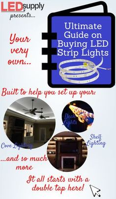 Your Ultimate Guide on Buying LED Strip Lights Looking for the best LED strip lights for your linear lighting application? Plenty of uses - under cabinet lighting, accent lighting, landscape & much more. Cove Lighting, Linear Lighting, Strip Lighting, Lighting Ideas, Led Shelf Lighting, Hidden Lighting, Accent Lighting, Arduino, Led Projects