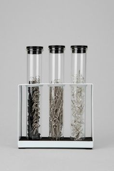 Test Tube Office Supply Set  #UrbanOutfitters.. Use with flowers instead to bring color to any room!