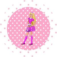 Barbie Princess Charm School: Free Party Printables and Images.