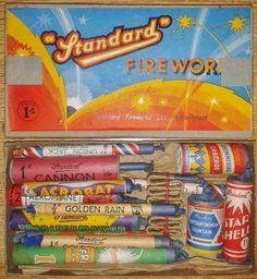 Vintage full box of standard fireworks!