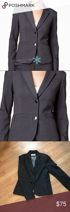 ❄️‼️FIRST OFFER TAKES IT‼️❄️ NWOT! Calvin Klein Suit Jacket!Size 10! Great Fit! Calvin Klein Jackets & Coats Blazers