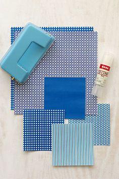 「簡単こいのぼりの箸置き」 用意するものは折り紙や包装紙などのお気に入りの紙。 市販の折り紙(15×15cm)を4等分したサイズで作ります。