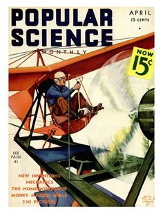 Front Cover of Popular Science Magazine: April 1, 1930 Premium Poster