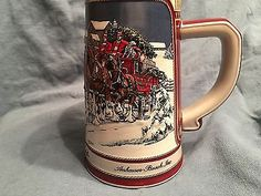 1989 Series C Budweiser Holiday Beer Stein for USD16.00 #Collectibles…