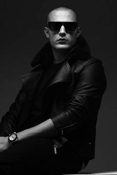 DJSNAKE - Leather Jacket, pose, right glasses (lineal) #DJSNAKE #clothes