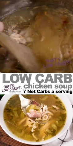 Keto Chicken Soup made in an Instant Pot is a healthy, flavorful homemade culinary cure for complicated dinners. Don& settle for canned impostors. Soup Appetizers Soup Appetizers dinners carb Soup Appetizers Appetizers with french onion Instant Pot Chicken Soup Recipe, Low Carb Chicken Soup, Chicken Soup Recipes, Canned Chicken, Chicken Meals, Keto Recipes, Dinner Recipes, Healthy Recipes, Comida Keto