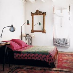 that mirror and the rugs