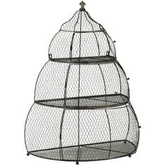 Zentique Iron Birdcage ($205) ❤ liked on Polyvore featuring home, home decor, bird cage home decor, iron home decor and bird home decor