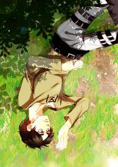 Eren Jaeger / Yeager / Jäger - Attack on Titan / Shingeki no Kyojin Armin, Eren Y Levi, Eren X Mikasa, Attack On Titan Eren, Attack On Titan Fanart, Ereri, Anime Guys, Manga Anime, Anime Art