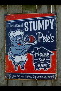 Vintage Logo And Humorous Metal Signs. Vintage look metal signs, made in the USA Posters Vintage, Retro Poster, Vintage Metal Signs, Vintage Labels, Vintage Ads, Antique Signs, Vintage Menu, Vintage Food, Vintage Type