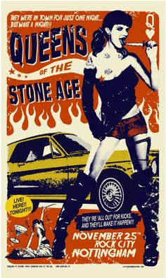 GigPosters.com - Queens Of The Stone Age poster December Notingham UK #qotsa