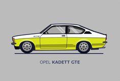 Opel kadett GT/E 1977. 2.0 115 hp Vector Art by Serafini Design Inkscape