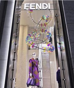 WEBSTA @ nichelifestyle - Its all about the #installations in collaboration with #artist Chris Wood this #houseoflight sparkles in the @fendi #windowdisplay